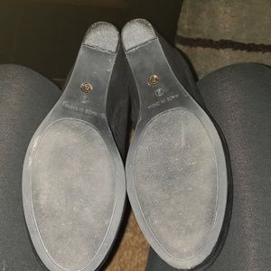 a.n.a Shoes - a.n.a Kenny Black Suede Wedges Size 9M